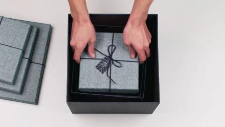大号正方形礼品盒精美生日礼物盒情人节礼盒复古简约创意包装盒子