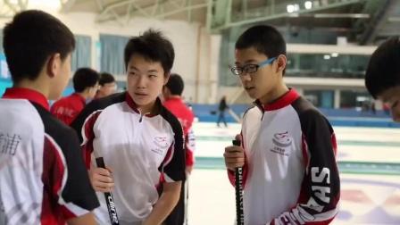 天奥花岗岩陆地冰壶在二青会男子陆地冰壶赛场上