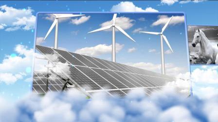 蓝天白云科技图片展示