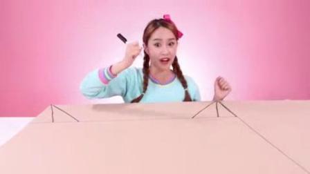 我在基尼上电视了用纸箱来制作的TV手工DIY截了一段小视频