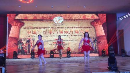 【M.INT'L-曼妮娅东方舞】2019广州东方舞大赛-团体双扇-小猪 、蓉蓉 、小喵