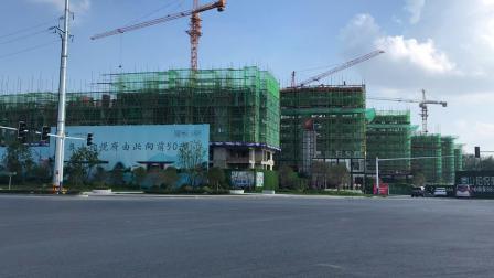 阜阳市城南高铁新区奥山铂悦府140亩项目道路车流量视频