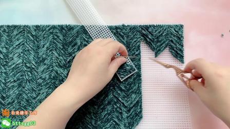 180集【白兔糖手工馆】小鸟装饰包包网格穿线包包编织视频教程简单织法