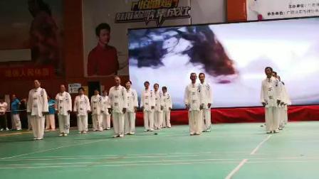 2019年全民健身活动中,广德功夫扇健身运动协会展演了太极拳、扇组合,彰显中国功夫    祥云……