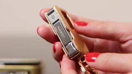 jobon中邦钥匙扣男士多功能金属带灯钥匙挂饰汽车钥匙鍊创意礼物