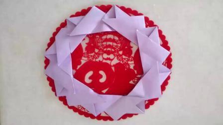 折纸—圣诞花环