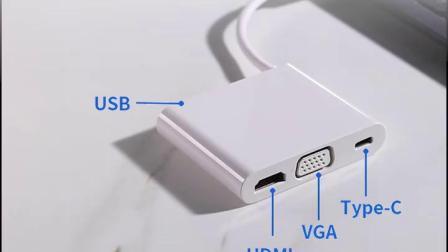 Huawei华为原装拓展typec扩展坞适配matebook1314EX pro笔记本平板hdmi分线USB电脑转接头VGA多接口转换器