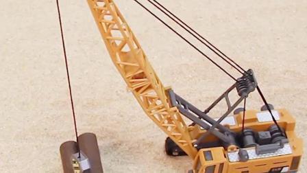 工程车儿童玩具挖土机挖土机大吊车合金仿真模型男孩大号套装汽车