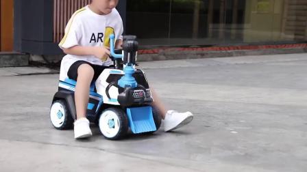 儿童挖土机玩具车超大号可坐骑电动勾机男孩可坐人挖土充电工程车