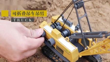 儿童工程车玩具套组挖土机挖土机大吊车起重合金仿真模型男孩汽车