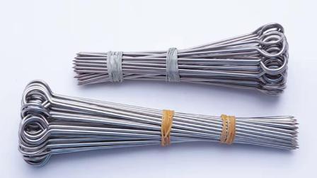不鏽钢鹅尾针 烤鸭尾针 烤鸭针烧烤针叉烧针 串烧烤针 16cm 20cm