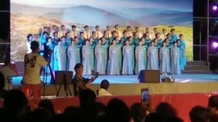 颂歌献给党,唱响新时代,庆祝建党98周年暨中华人民共和国成立70周年。宏声合唱团演唱