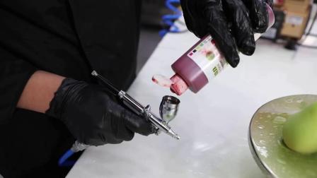 AKOKO 蛋糕上色烘焙双缸喷砂机喷枪法式西点慕斯喷砂机巧克力喷枪