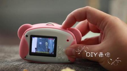 金缔斯儿童趣味迷你数码照相机可拍照女孩生日礼物男孩益智玩具卡通小单眼高清相机旅游拍照打印