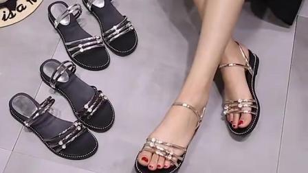 坡跟拖鞋女夏外穿2019新款韩版百搭两穿高跟鬆糕厚底时尚网红凉拖
