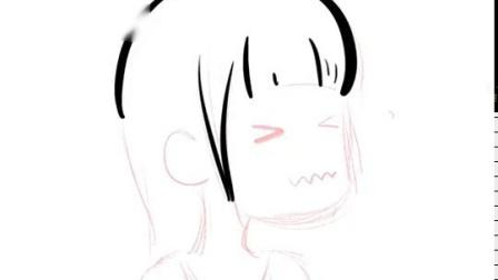 卡通黑白简萌风小头像Q版图案定製壁纸简笔画漫画照片手绘