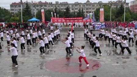 """万荣县2019年""""全民健身日""""活动启动仪式文体节目展示之一"""
