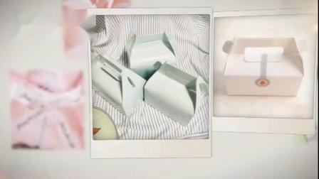 手提小中大号牛皮白卡纸小西点慕斯蛋糕包装盒雪花酥牛轧糖包装盒
