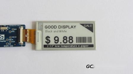 2.13寸低温电子纸显示屏 黑白双色电子纸屏 GDEW0213V7LT