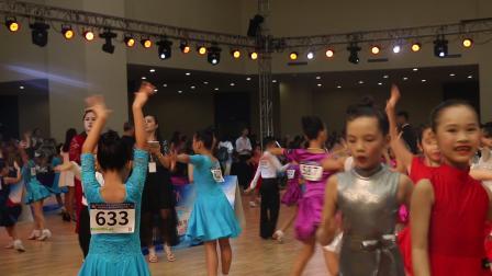 中国广西第七届国际标准舞精英赛《恰恰恰》张文静 园林艺术培训中心