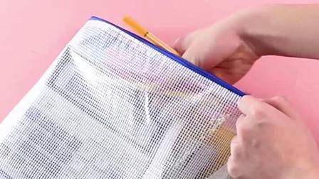可定製A4文件袋透明网格资料收纳拉鍊袋资料袋档案袋学生用试卷袋办公用品文具防水加厚公文文件夹袋大容量袋