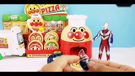 奥特曼面包超人披萨店买披萨奥特蛋怪兽蛋大作战_标清