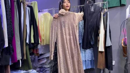 华荣服饰19秋季新款精品宽松时尚显瘦连衣裙组合包走份女装