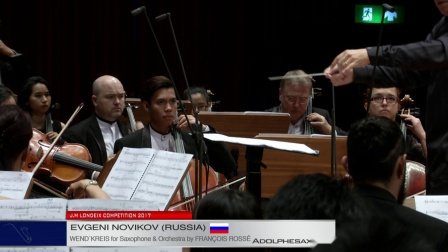 Evgeni Novikov (Russia) - Wend'kreis for Sax and Orchestra by Francois Rosse