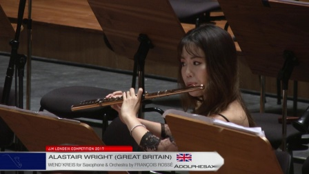 Londeix 2017 -A. Wright (G. Britain) - Wend'kreis for Sax&Orch by F. Rosse