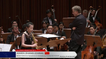 Londeix 2017 - Final - Aiwen Zhang (China) - Wend'kreis for Sax&Orch by F. Rosse