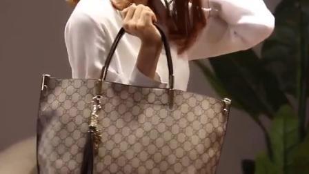 香港代购真皮女包2019新款时尚简约单肩包大容量休闲手提託特包包