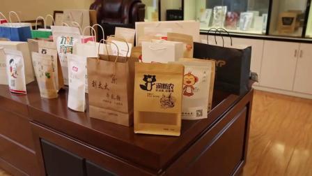 加厚款牛皮纸袋手提袋定製礼品购物服装包装袋自立红酒大号10只价