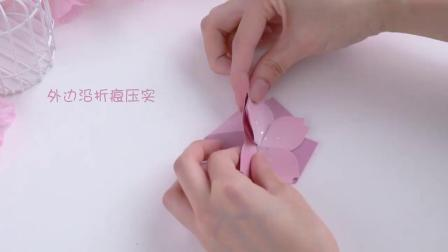 信的恋人 樱之花摺纸生日七夕节贺卡 立体小卡片套装 花朵留言卡 3枚入