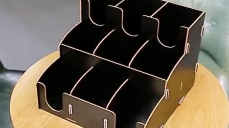 一次性纸杯塑料杯盖收纳层架咖啡奶茶店吧檯用品取分杯器纸巾吸管盒