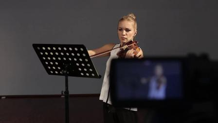 Behind the Scenes - Violin Recording Session with Lidia Baich