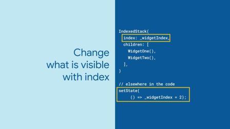 IndexedStack (Flutter Widget of the Week)