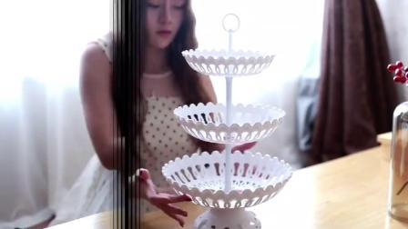 欧式多层水果篮欧式现代客厅三层水果盘创意塑料乾果茶几点心盘