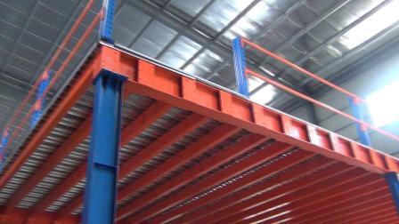 钢阁楼货架安装现场-恒缘诚仓储货架