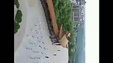 铜川市宜君县云手龙山太极队晨练表演