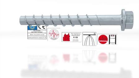 慧鱼的混凝土切底自攻型锚栓 ULTRACUT-FBS II 8-14 gvz