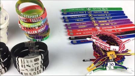 篮球迷科比库裏欧文詹姆斯手环送男生实用创意周边生日礼物纪念品