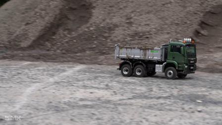 MAN 6x6自卸卡车模型在高速行驶下的悬挂性能
