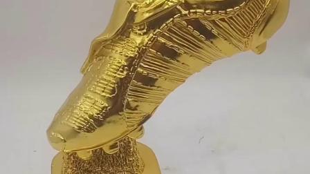 定製世界盃足球金靴奖纪念品 射手奖奖杯模型足球先生奖杯C罗梅西
