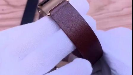 古图錶带 适配 华为B3手环B5柔软牛皮原款式摩卡棕男女替换护腕