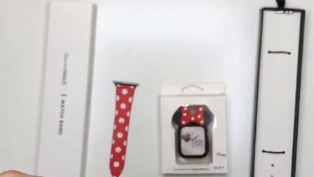iseisewatch 苹果手錶apple watch series 1234代表带iwatch卡通米奇錶带硅胶创意波点米妮个性潮女生可爱