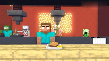 我的世界动画-怪物学院-披萨店挑战