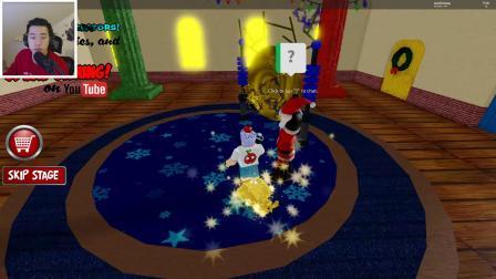 Roblox圣诞节冒险神奇传送门帮助圣诞老人修复雪橇!小飞象解说
