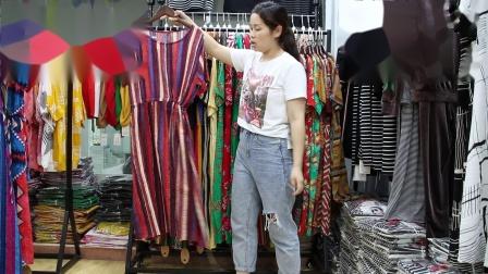 2019年最新精品女装批发服装批发时尚服饰时尚女士新款夏装棉麻面料均码连衣裙20件起批,视频款可挑款零售混批~1