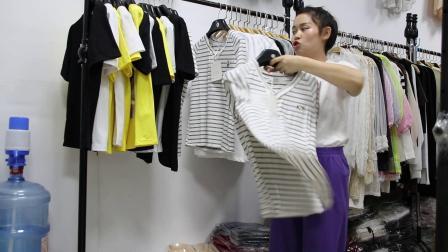 2019年最新精品女装批发服装批发时尚服饰时尚女士新款夏装特价棉短T30件一份,视频款可挑款零售混批