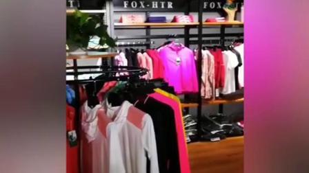 运动休闲服装展示架男装店服饰落地式高档球服户外品牌专卖店货架